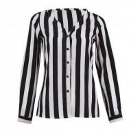 Camisa a rayas negro blanco...