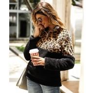 Sudadera Casual de leopardo...