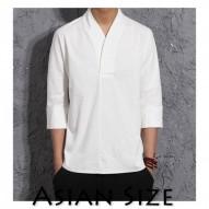 Camiseta de algodón de lino...