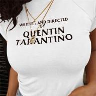 Camiseta corta de algodón...